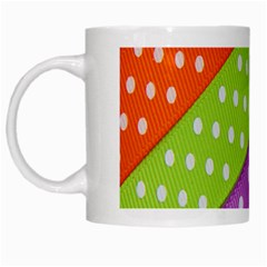 Colorful Easter Ribbon Background White Mugs