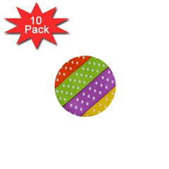 Colorful Easter Ribbon Background 1  Mini Buttons (10 pack)
