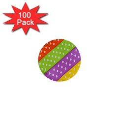 Colorful Easter Ribbon Background 1  Mini Buttons (100 pack)