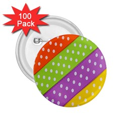 Colorful Easter Ribbon Background 2.25  Buttons (100 pack)