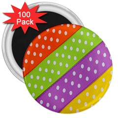 Colorful Easter Ribbon Background 3  Magnets (100 Pack)