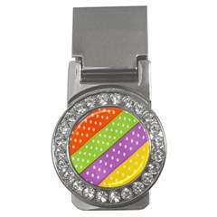 Colorful Easter Ribbon Background Money Clips (CZ)