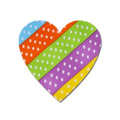 Colorful Easter Ribbon Background Heart Magnet