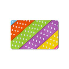 Colorful Easter Ribbon Background Magnet (Name Card)