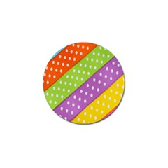 Colorful Easter Ribbon Background Golf Ball Marker (4 pack)