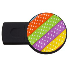 Colorful Easter Ribbon Background Usb Flash Drive Round (2 Gb)