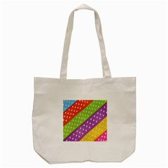 Colorful Easter Ribbon Background Tote Bag (Cream)