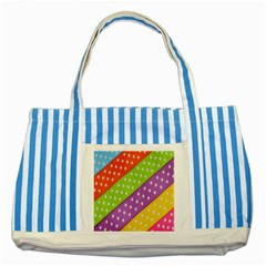 Colorful Easter Ribbon Background Striped Blue Tote Bag