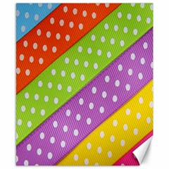 Colorful Easter Ribbon Background Canvas 8  x 10