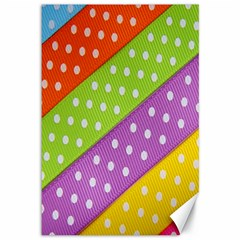 Colorful Easter Ribbon Background Canvas 12  x 18
