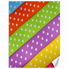 Colorful Easter Ribbon Background Canvas 18  X 24