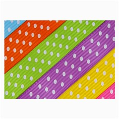 Colorful Easter Ribbon Background Large Glasses Cloth (2 Side)