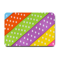 Colorful Easter Ribbon Background Small Doormat