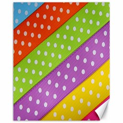 Colorful Easter Ribbon Background Canvas 11  X 14