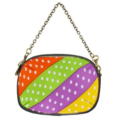Colorful Easter Ribbon Background Chain Purses (one Side)