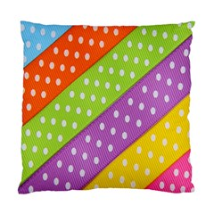 Colorful Easter Ribbon Background Standard Cushion Case (two Sides)