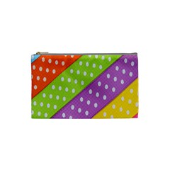 Colorful Easter Ribbon Background Cosmetic Bag (small)