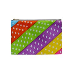 Colorful Easter Ribbon Background Cosmetic Bag (medium)