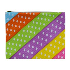 Colorful Easter Ribbon Background Cosmetic Bag (xl)