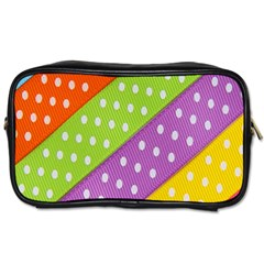 Colorful Easter Ribbon Background Toiletries Bags