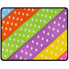 Colorful Easter Ribbon Background Fleece Blanket (medium)