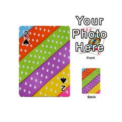 Colorful Easter Ribbon Background Playing Cards 54 (mini)