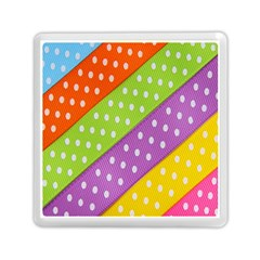Colorful Easter Ribbon Background Memory Card Reader (square)