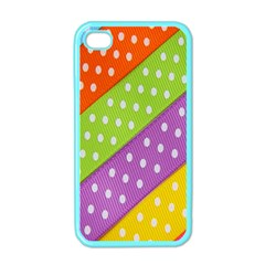 Colorful Easter Ribbon Background Apple Iphone 4 Case (color)