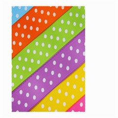 Colorful Easter Ribbon Background Small Garden Flag (Two Sides)