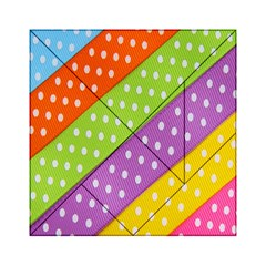 Colorful Easter Ribbon Background Acrylic Tangram Puzzle (6  x 6 )