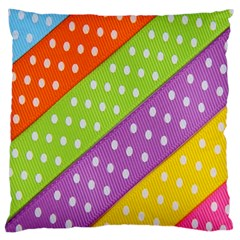 Colorful Easter Ribbon Background Large Cushion Case (Two Sides)