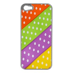 Colorful Easter Ribbon Background Apple iPhone 5 Case (Silver)