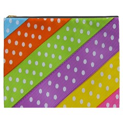Colorful Easter Ribbon Background Cosmetic Bag (XXXL)