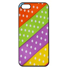 Colorful Easter Ribbon Background Apple iPhone 5 Seamless Case (Black)
