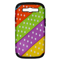Colorful Easter Ribbon Background Samsung Galaxy S Iii Hardshell Case (pc+silicone)