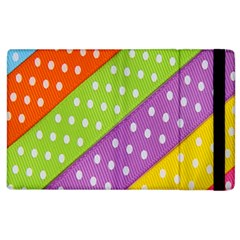 Colorful Easter Ribbon Background Apple Ipad 2 Flip Case