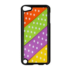 Colorful Easter Ribbon Background Apple iPod Touch 5 Case (Black)