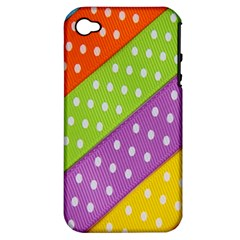 Colorful Easter Ribbon Background Apple iPhone 4/4S Hardshell Case (PC+Silicone)