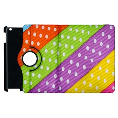 Colorful Easter Ribbon Background Apple iPad 2 Flip 360 Case