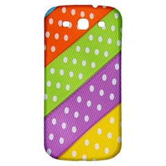 Colorful Easter Ribbon Background Samsung Galaxy S3 S Iii Classic Hardshell Back Case