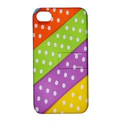 Colorful Easter Ribbon Background Apple iPhone 4/4S Hardshell Case with Stand