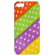 Colorful Easter Ribbon Background Apple iPhone 5 Hardshell Case with Stand