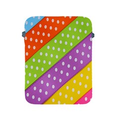 Colorful Easter Ribbon Background Apple iPad 2/3/4 Protective Soft Cases