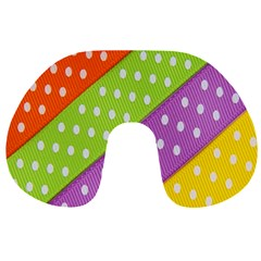 Colorful Easter Ribbon Background Travel Neck Pillows