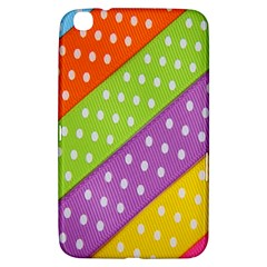 Colorful Easter Ribbon Background Samsung Galaxy Tab 3 (8 ) T3100 Hardshell Case