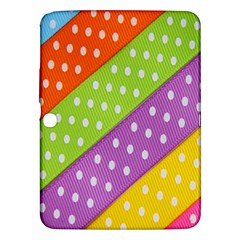 Colorful Easter Ribbon Background Samsung Galaxy Tab 3 (10.1 ) P5200 Hardshell Case
