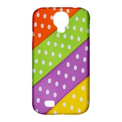 Colorful Easter Ribbon Background Samsung Galaxy S4 Classic Hardshell Case (pc+silicone)