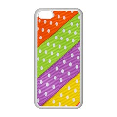 Colorful Easter Ribbon Background Apple iPhone 5C Seamless Case (White)