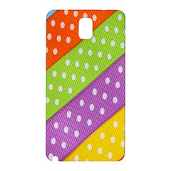 Colorful Easter Ribbon Background Samsung Galaxy Note 3 N9005 Hardshell Back Case