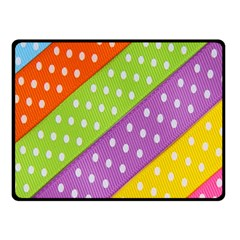 Colorful Easter Ribbon Background Double Sided Fleece Blanket (Small)